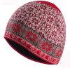 Form-roter/Schwarzweiss-Arabesquitic gestrickter Beanie-Hut