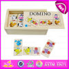 2015 Children engraçado Animal Wooden Domino Toys Puzzle, 28PCS Wooden Toy Domino Animal, Wooden Puzzle Best Quality Wholesale W15A024