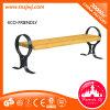 Silla de madera dúctil de los listones del banco de parque de la pierna del hierro de la buena calidad