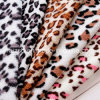 Leopardo Printed Coral Fleece Fabrics para Wholesale