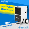 110ppd/50L Restoration Dehumidifier mit Big Wheel