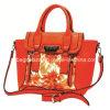 Het Leer Totebags, het Af:drukken van China van Hotsale van de Bloem van de Manier Dame PU Handtassen