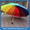 Regalo plegable Sun de la promoción del arco iris y parasol del paraguas de la lluvia