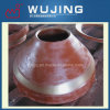 Exploitation Equipment High Manganese Steel Casting Mantle pour Cone Crusher