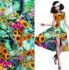 100%Polyester Print Fabric Women Dress Fabric
