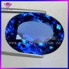 합성 타원형 모양 강옥 파랑 사파이어
