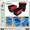 Caixa movente Nestable plástica da modificação da caixa com tampa