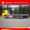 De Container van het Merk van Sinotruk 6X4 HOWO draagt Flatbed Vrachtwagen