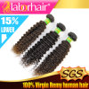 Migliore brasiliano Virgin Remy Human Hair Extensions di Quality 7A Kinky Curl 100%