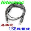 Cable en espiral del USB del explorador del código de barras para Intermec Sr31t2d