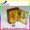 Золотистый напечатанный поднос хлопка внутри роскошной коробки упаковки дух