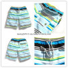 Beachwear listrado colorido de Beachshorts da cópia dos homens com bolsos