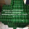 Maglia di plastica verde, rete di plastica verde