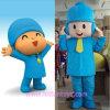 Costume de mascotte de caractère de film de dessin animé : Poyoco bleu