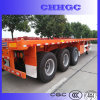 China 3 Axle Flatbed Container Semi Trailer für Sale