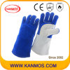De anti-hete Handschoen van het Werk van het Lassen van de Bedrijfsveiligheid van het Leer van de Zweep (11108)