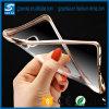 Het in het groot Geval van de Telefoon van het Plateren van het Gel van de anti-Schok TPU Flexibele Transparante Achter Zij voor de Rand van de Melkweg van Samsung S6