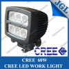 Vierkante 60W CREE LED Work Light voor Op zwaar werk berekend, Highquality Waterproof 6*10W CREE LED Work Lamp