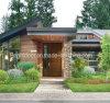 Puerta de madera sólida de interior del color natural rústico del estilo para la casa