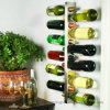 Cremagliera contemporanea di memoria del vino della visualizzazione della bottiglia del metallo della barra orizzontale dell'annata