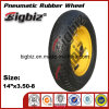 Gute Qualitätsnatürliches schwarzes Gummigroßhandelsnylonrad 3.50-8