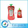 Levantarse el bolso con el canalón para el embalaje de la goma de tomate