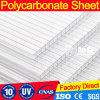 Strato Uv-Rivestito del tetto del policarbonato dello strato della cavità di Due-Strato del Bayer di alta qualità