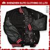 Revestimento de casaco de bombom acolchoado preto personalizado com pele de carneiro Mens (ELTBQJ-529)