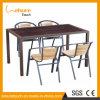 Atacado Rattan Furniture Outdoor Wicker Cadeira e Mesa com alumínio plástico madeira