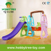 2017 Fashion Color Plastic Toys avec Slide and Swing Set (HBS17024A)