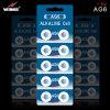 AG6 1.5V Batterij van de Cel van de 33mAh de Alkalische Knoop