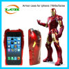 3D Iron Man Calling Flash Armor Hard Phone Case pour iPhone 7