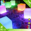 Muebles al aire libre de la barra 16 colores que cambian sillas iluminadas del cubo