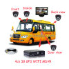 사진기를 가진/증명서를 가진 모니터를 가진 학교 버스 이동할 수 있는 DVR/3G 4CH Mdvr/