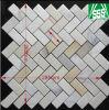 Tuiles de mosaïque maillées par caillou ovale gris dégringolées pour le revêtement de mur