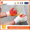 Красной перчатка покрынная резиной работы Dcl301