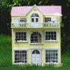 Chambre de poupée en bois de jouet du modèle 3 de famille heureuse populaire d'étages