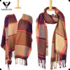 Involucro controllato multicolore acrilico popolare della sciarpa del plaid delle donne
