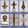 Diseño antiguo de la cerca del Ornamental y del hierro labrado de la seguridad