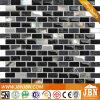 Черная мозаика раковины, мрамора и стекла губы для граници кухни (M853002)