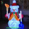 Helle im Freien Innen-LED Weihnachtsleuchte des Schneemann-