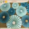 Strip Printed DIY Hanging Pinwheel Fan Wedding Decoration