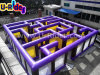 Color roxo Inflatable Maze para Both Kids e Adult