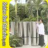 中国優秀なデザインステンレス鋼の金属の大きい庭プランター