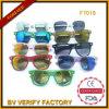 Óculos de sol de F7018 Glassic com os braços de madeira coloridos