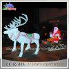 Lumière de motif de renne de DEL 3D Santa/lumière de Noël (CE/RoHS)