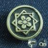 Цветок печатает кнопки на машинке металла Antique сбор винограда кнопок для пальто