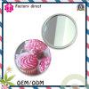 Espejo del bolsillo del espejo del maquillaje de la impresión en offset del estaño del metal