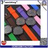 Las mujeres calientes de los hombres del reloj del cuarzo de la venta de la correa Yxl-181 del silicón ocasional colorido del reloj venden al por mayor