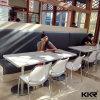 Fester quadratischer Gaststätte-Oberflächenkaffeetisch mit Stuhl